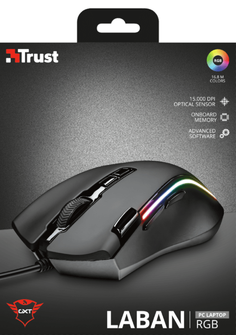Mouse Trust Wireless Gxt 188 Manx 8 Botones Black Ergonómico