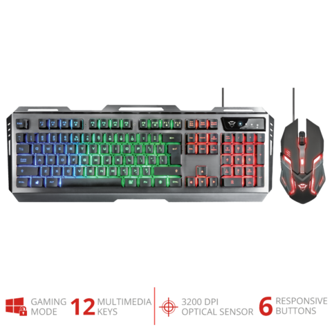 Teclado + Mouse Gamer Trust Gxt 845 Retroiluminado Led en internet