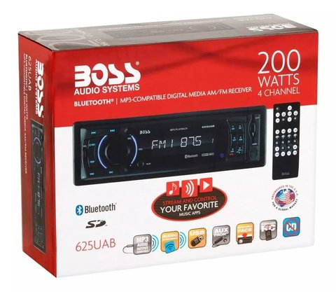Stereo Boss 625ua Usb Sd Mp3 Am Fm Auxiliar 200w Oferta en internet