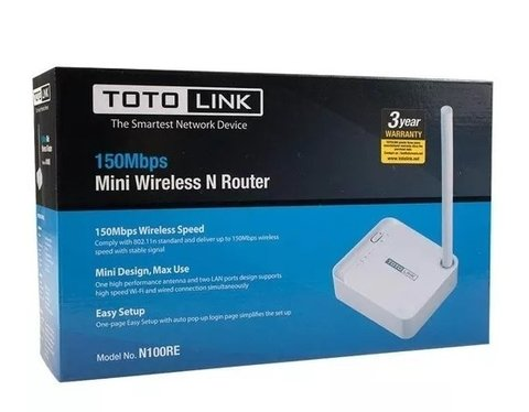 ROUTER INALAMBRICO 150MBT NOGA NET TL-N100RE (TOTOLINK)