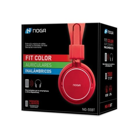 AURICULARES BLUETOOTH FIT NOGANET NG -55BT - Depot Centro