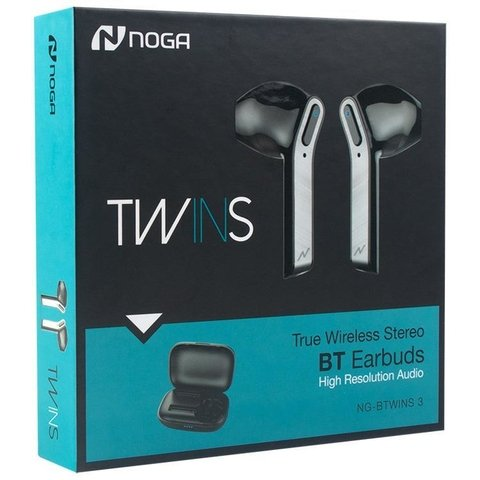 Auriculares Bluetooth In Ear Noga Twins 3 Wireless + Estuche - tienda online