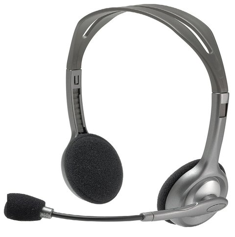 AURICULAR C/MICROFONO LOGITECH H110 STEREO HEADSET PC