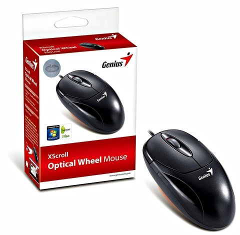 MOUSE GENIUS XSCROLL USB G5 OPTICAL BLACK - comprar online