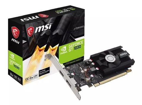 Placa Video Geforce Msi Gt 1030 2gb Ddr4 Hdmi Lp Oc
