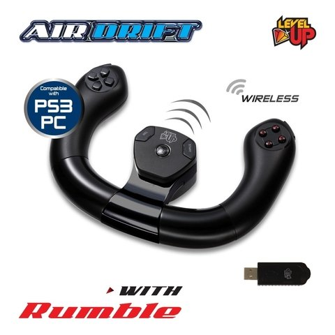 VOLANTE LEVEL UP AIR DRIFT PS3 - WIRELESS PARA PS3 / COMPATIBLE PC