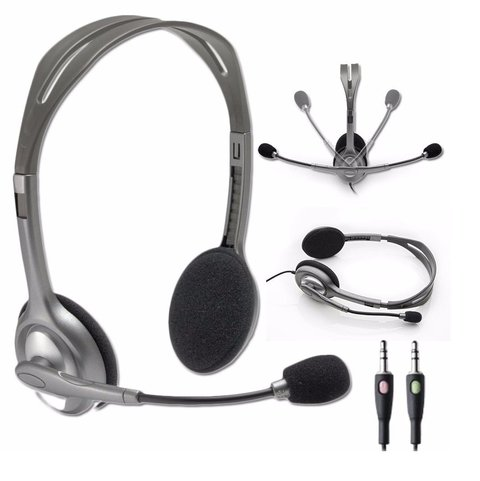 AURICULAR C/MICROFONO LOGITECH H110 STEREO HEADSET PC - comprar online