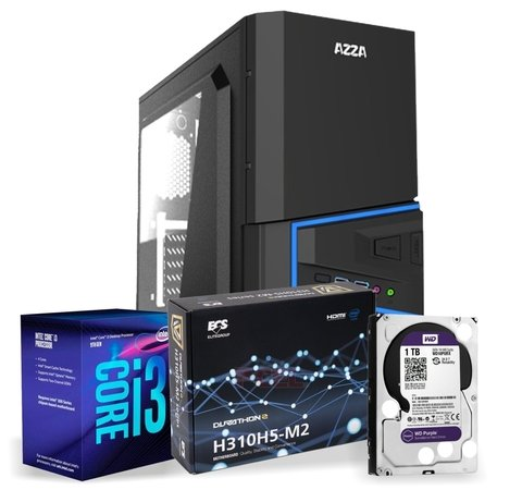 Pc de Escritorio CPU FULL DESK  i3 INTEL-1151 9100 9na Gen Disco 1TB 8gb DDR4 Gabinete AZZA