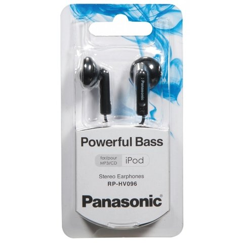 Auricular Headphone In ear Panasonic Rp-hv096p-k Negro - comprar online