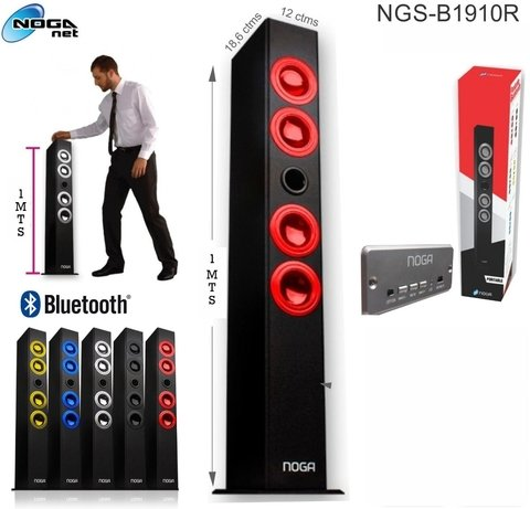 Parlante Bluetooth Torre 4 Bafles Ideal Tv Musica Noga Net - comprar online