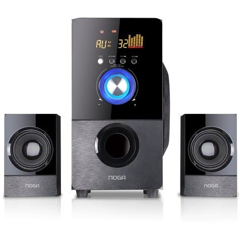 Parlantes Pc 2.1 Bluetooth Usb Sd Control Noga Net