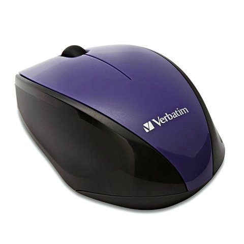 MOUSE VERBATIM INALAMBRICO MULTI-TRAC BLU-LED