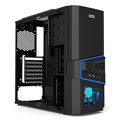 GABINETE GAMER AZZA SIRIUS 206S + 1 COOLER LED 120MM + USB 3,0 SIN FUENTE en internet