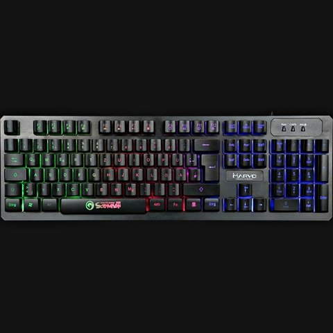 TECLADO GAMER RETROILUMINADO MARVO K616 en internet