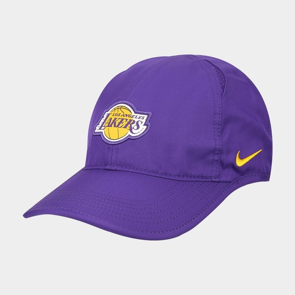 5e9478a288a93 Gorra Original Los Angeles Lakers Nike Aerobill Nba Basquet