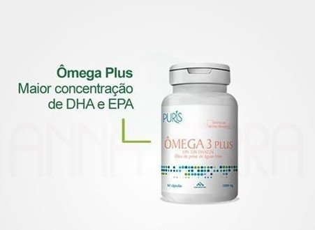 Ômega 3 Plus - 1000mg 60 cápsulas Puris