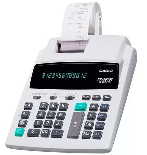 Calculadora Casio Fr-2650T Impresor 2col. 12 Digitos