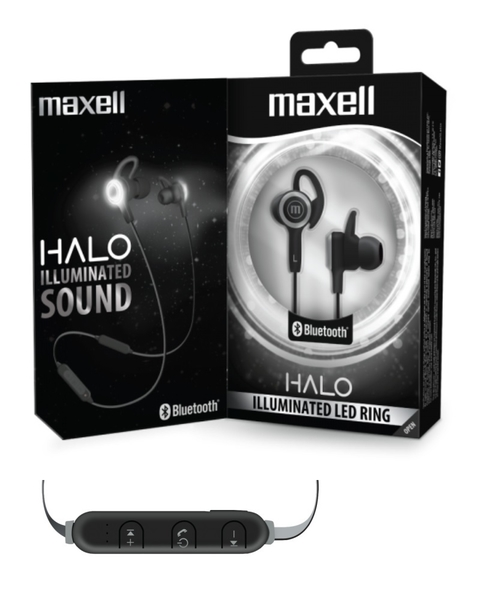 AURICULAR BLUETOOTH MAXELL HALO ARO LED