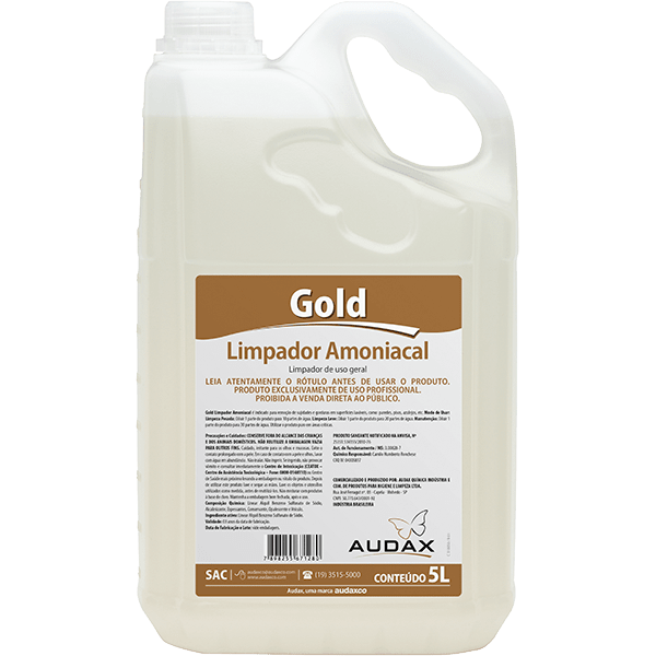 Limpador Amoniacal Gold 5 litros - AudaxCo