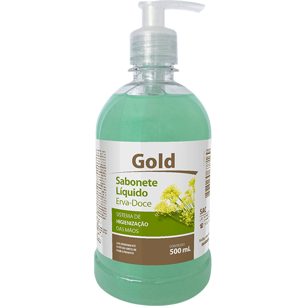 Sabonete Líquido Pump Gold 500 ml - AudaxCo