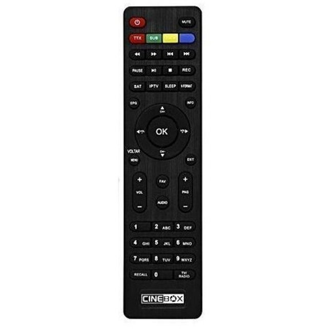 Controle Remoto Cinebox Supremo+ Plus HD