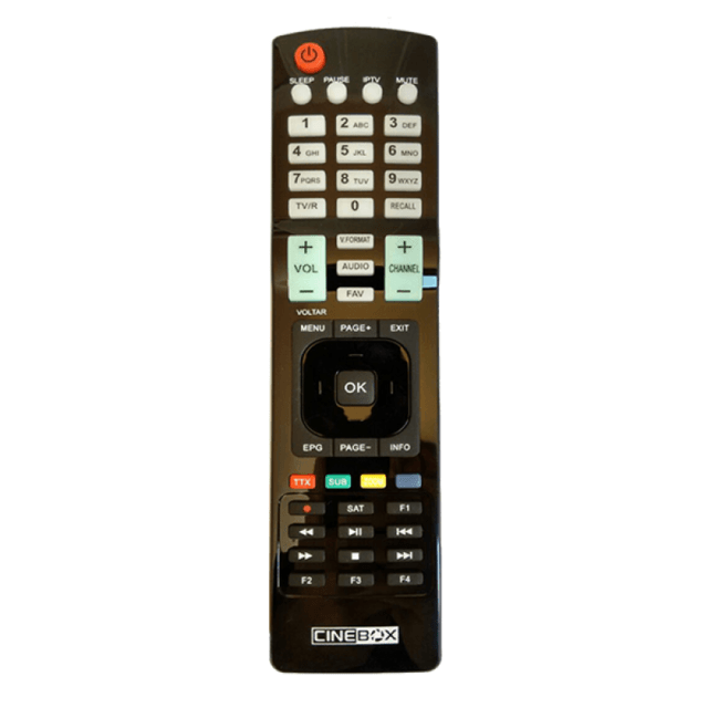 Controle Remoto Cinebox Maestro HD / +Plus / Ultra+ HD