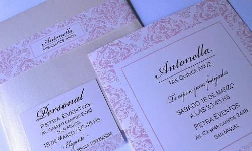 Tarjetas Invitaciones 15 Años X50 El Arte De Invitar