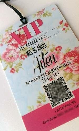 Tarjeta Invitacion Vip 15 Años X50