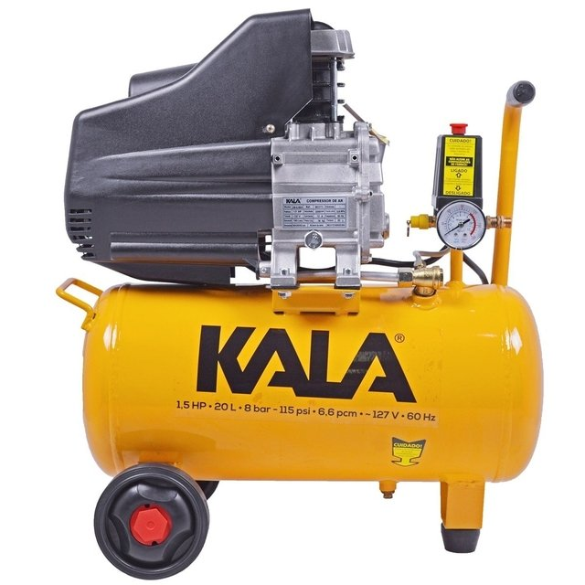 Compressor de Ar 1.5HP 20L 8BAR 127V - KALA na internet