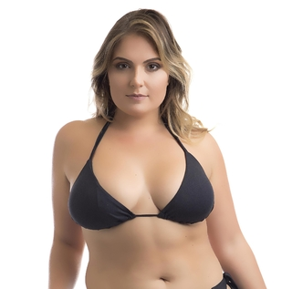 TOP CORTININHA AVULSO PRETO PLUS SIZE
