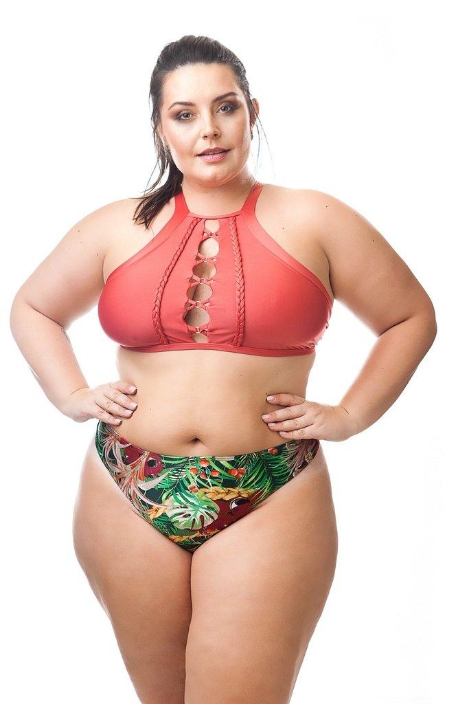 70b166a73b51 Biquíni sem bojo Plus Size Antonella, um luxo que lembra as selvas  amazônicas brasileiras em