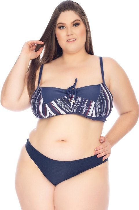 TOP AVULSO SEM BOJO PLUS SIZE NAVY