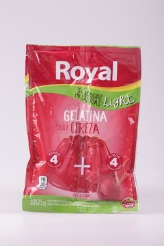 GELATINA ROYAL SOBRE LIGHT CEREZA 25g
