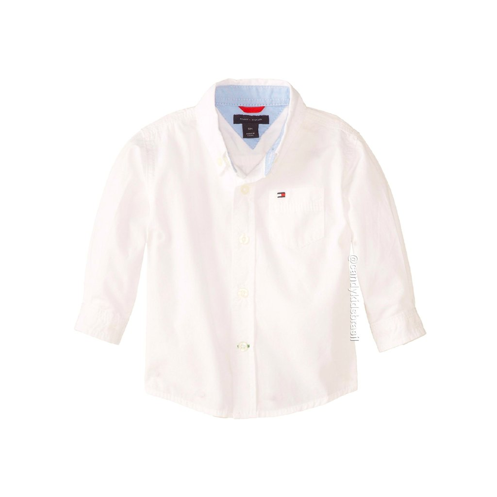 Tommy Hilfiger - Camisa social de bebê - Branca. 0% OFF e4aeb7e2d82ba