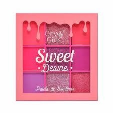 Mini Paleta Sweet Desire 9 Cores B - City Girls