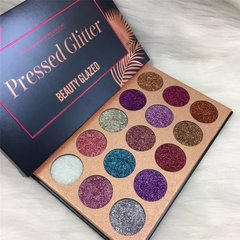 Paleta Pressed Glitter 15 Cores - Beauty Glazed