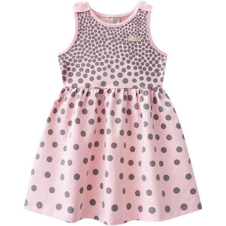 04d4ef2be Vestido infantil bolinhas Milon