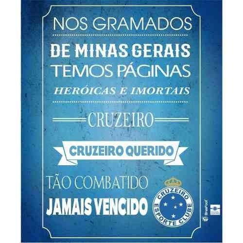 fa251e4c36 Quadro Decorativo Torcedor Mineiro Mdf Cruzeiro Original