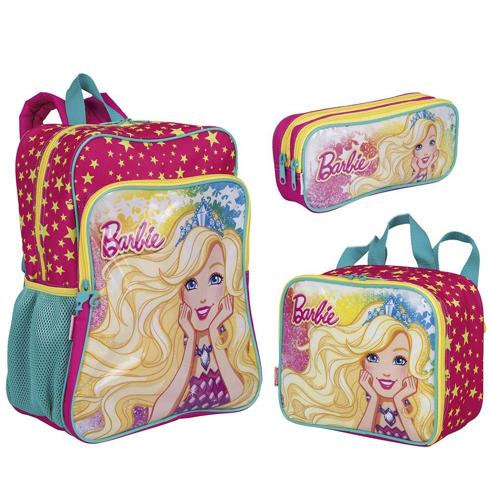 e9e3211cf7 Kit Mochila Grande Barbie 19M Plus + Lancheira + Estojo
