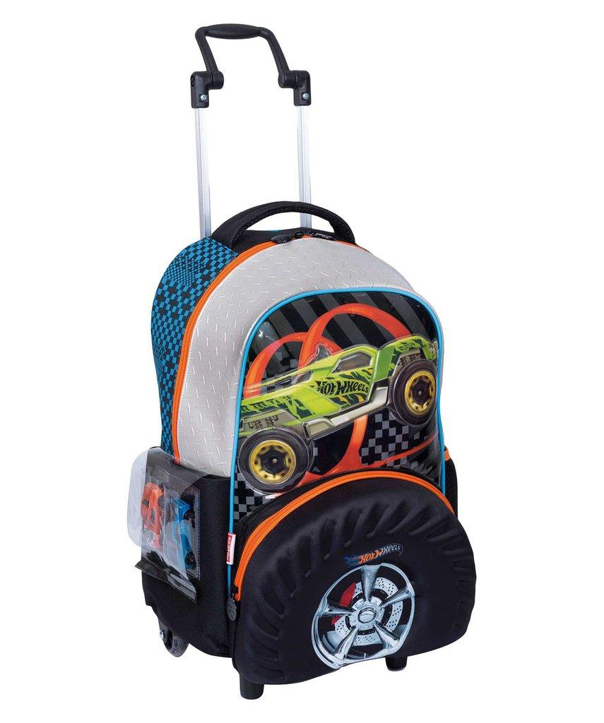 65322b8d0e Mochila de Rodinhas G Hot Wheels Roda 19Z Original Sestini