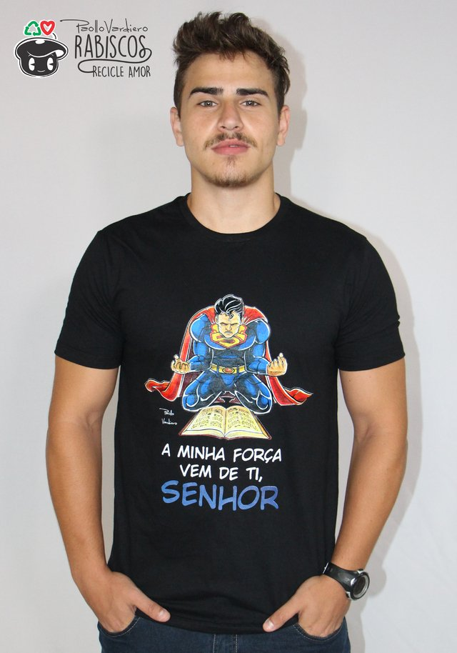 Camisa Superman - Adulto Masculino Preto