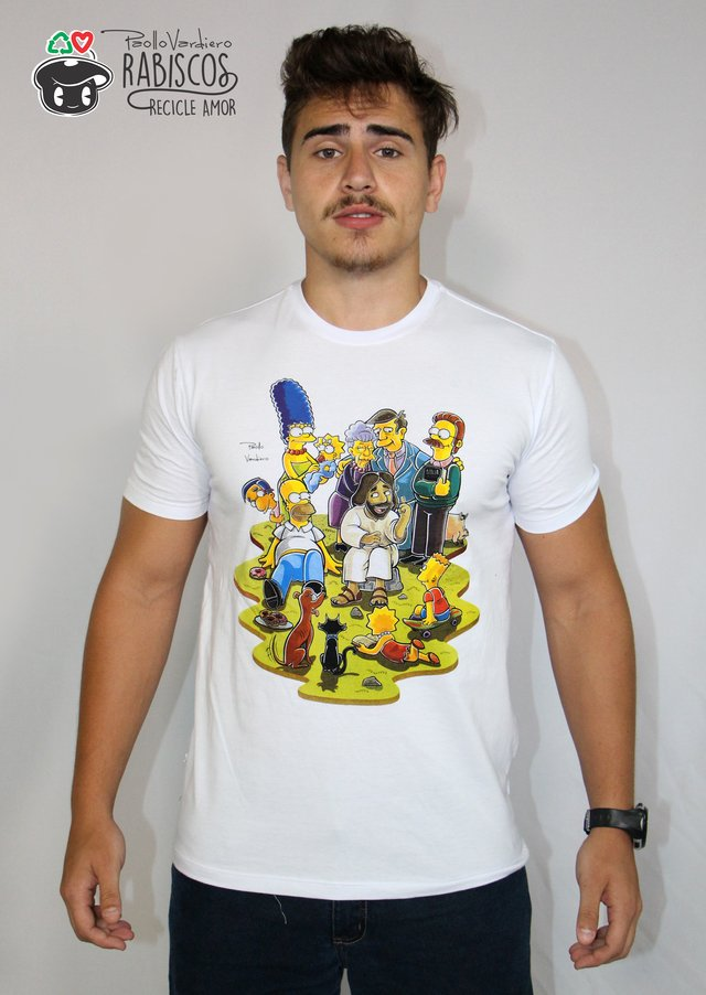Camisa Simpsons - Adulto Masculino Branco