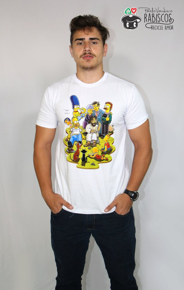 Camisa Simpsons - Adulto Masculino Branco na internet