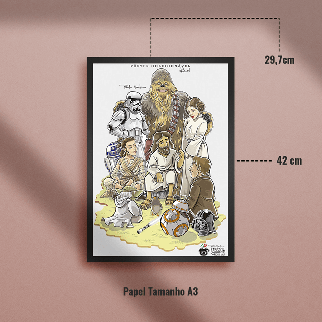 Poster Star Wars na internet