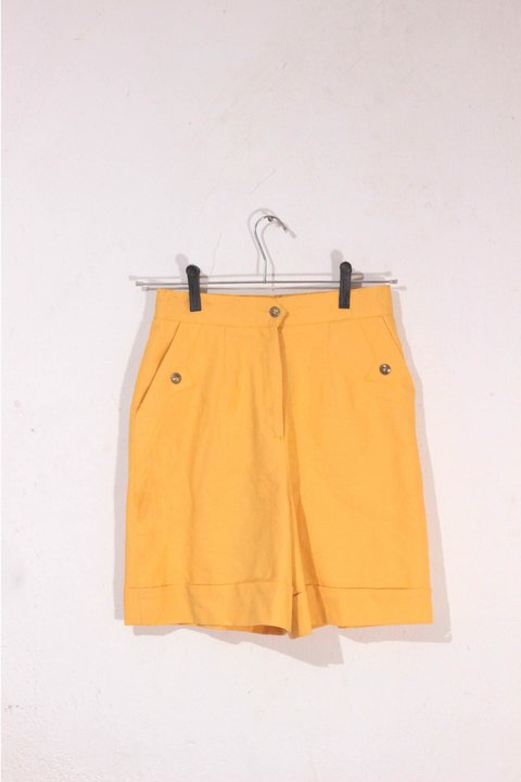 Shorts Alfaiataria Yellow Newsport - Lolita Vintageria