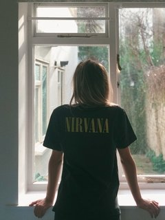 Camiseta Nirvana- Estampa Frente e Costas