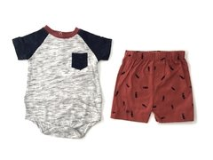 Conjunto Body Manga Curta com e Shorts