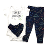 Conjunto Body Estampado Babador e Calça Azul Up Baby
