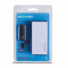 Kit Power Bank 4000mah Leitor Pendrive Cartão Micro Sd 16gb - comprar online