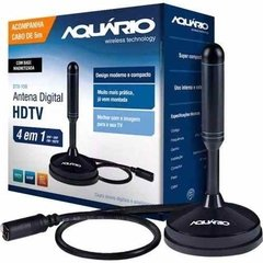 Antena Tv Digital Hdtv Dtv 150 Aquario **cabo 5 Metros**